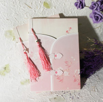 Chinese Style Antique Notebook Pink Flower Retro Diary